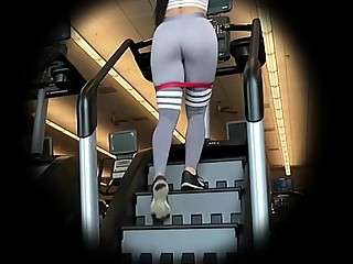 Gym ass exercising in sports pants