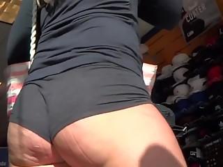 Jiggling marked ass