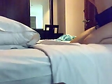 Actress in hotel