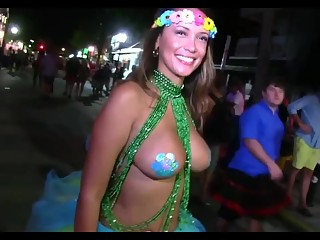 Street party flashes