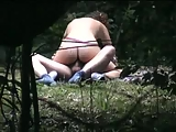 Couple fuck in the forest