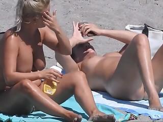 Nude women in the beach