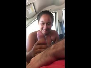 Mature stranger strokes cock