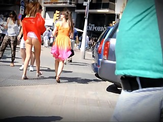Accidental upskirt in the street