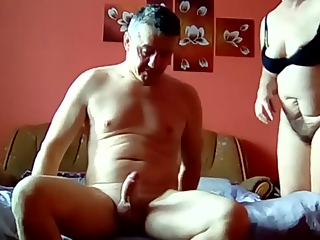 Husband fucks his wife in the couch