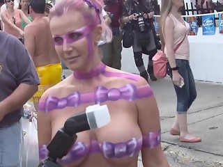 Women naked with painted bodies