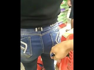 Dude touches woman ass