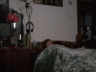 Horny wife masturbates under sheets