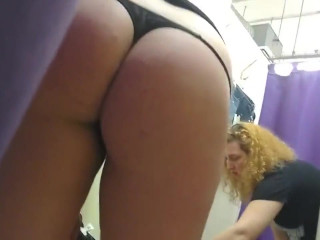 Milf ass in thong in fitting room