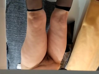 Naked pussy in fitting room.