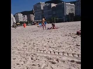 Hot bikini girl in the beach