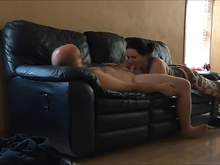 Man receives oral sex from his wife