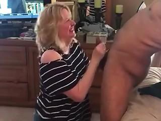 Mature loves black cock