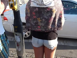 Girl in a sexy shorts