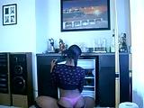 The hottest black girl teasing on cam