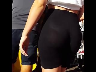 PAWG see through shorts
