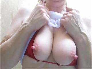 Wet tshirt pink nipples