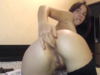 Fingers in asshole and pussy fisting