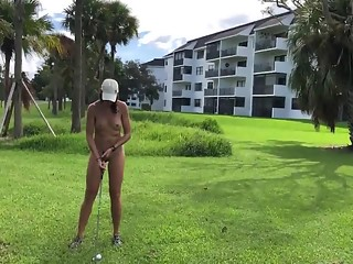 Playing golf naked