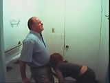 Lucky teacher busted in video while receiving a blowjob from a student