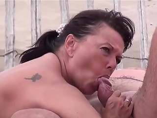 Mature nudist blowjob and fuck